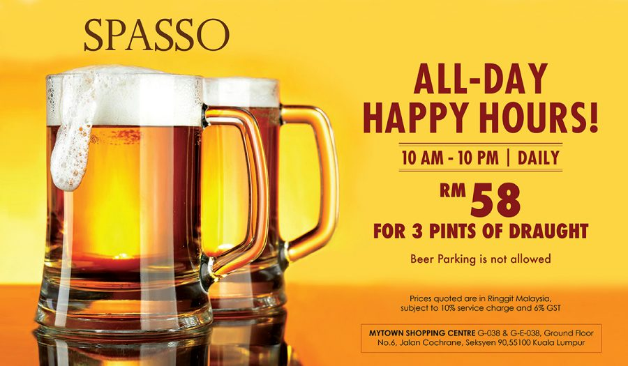 ALL-DAY HAPPY HOURS! (DAILY)
