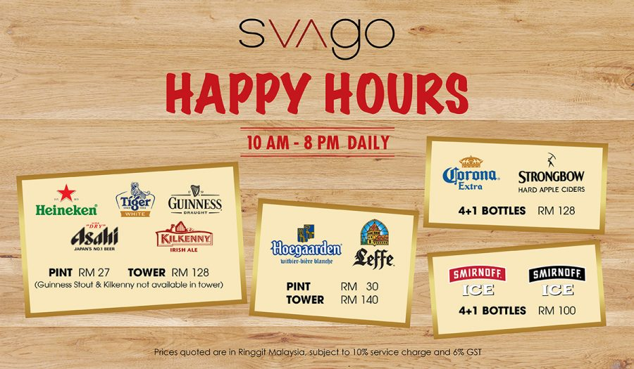 HAPPY HOURS @ SVAGO