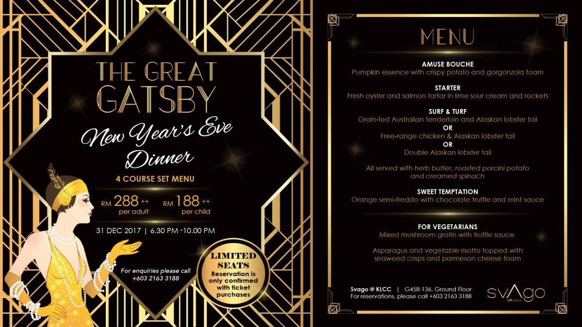 New Year's Eve Dinner @ SVAGO KLCC