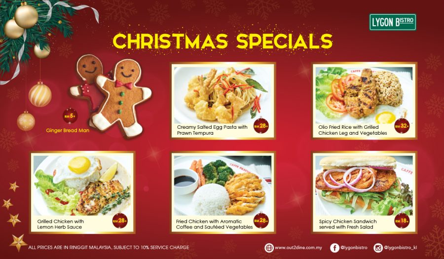 CHRISTMAS SPECIALS @ LYGON BISTRO!