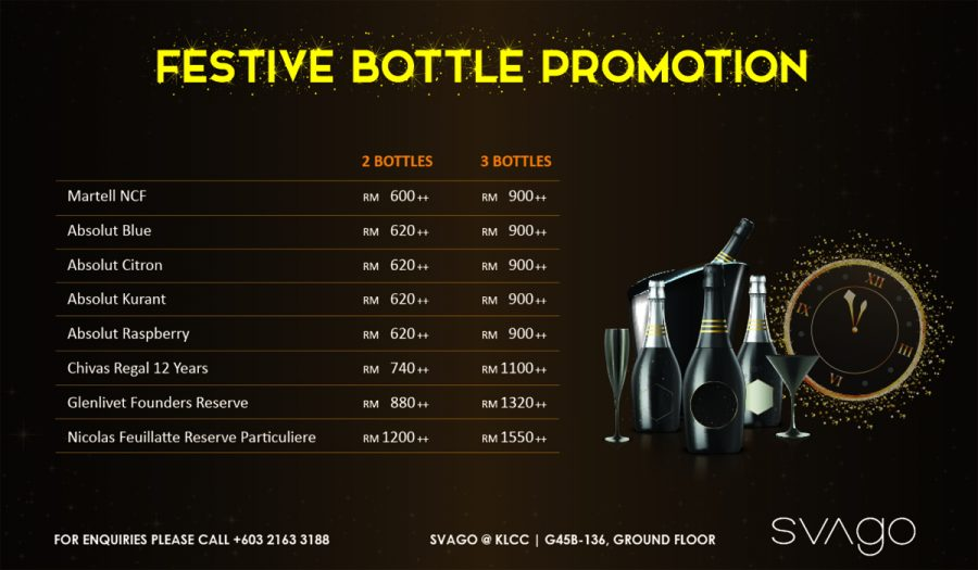 FESTIVE BOTTLE PROMOTION @ SVAGO